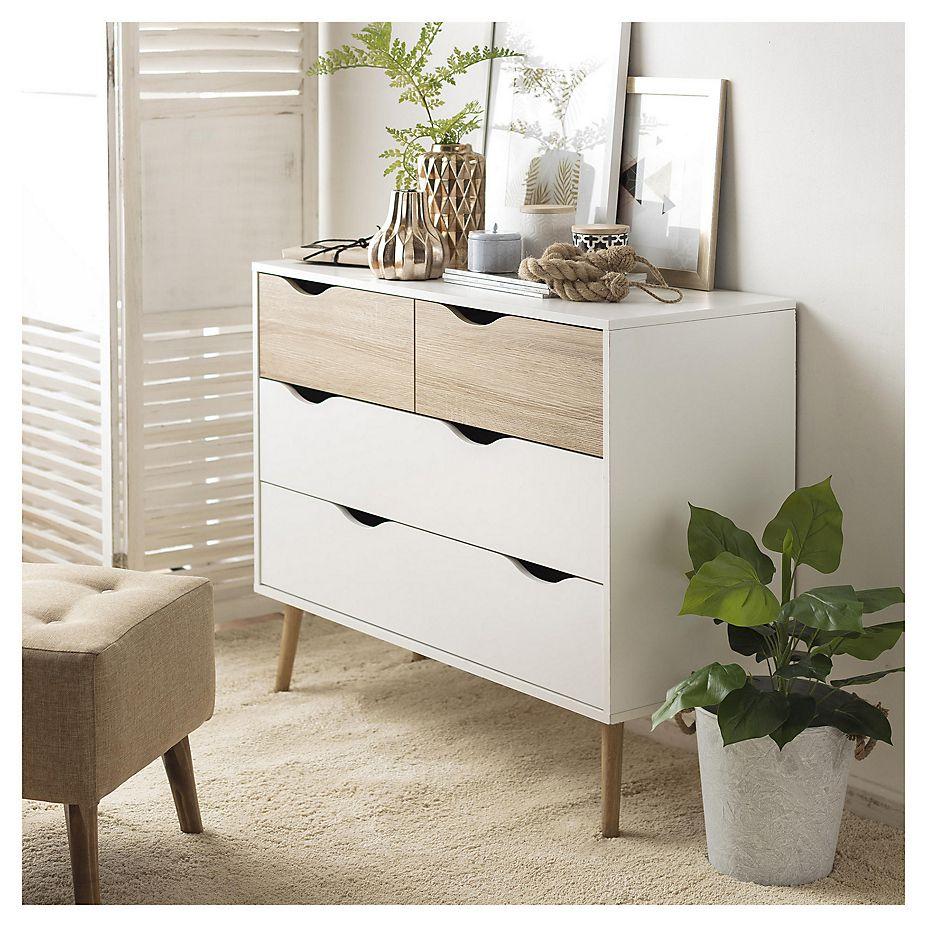 Comoda 4 Cajones 82x99x40 Cm Sodimac Com Muebles Para Recamara Muebles Dormitorio Muebles Habitacion