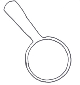 Magnifying glass template for craft from Celebrations