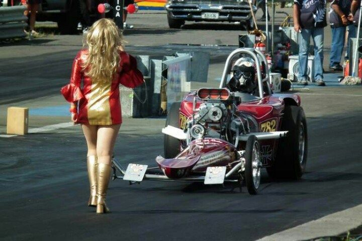 Drag Racing Because Back Up Girls Hurst Shifter Linda Vaughn The