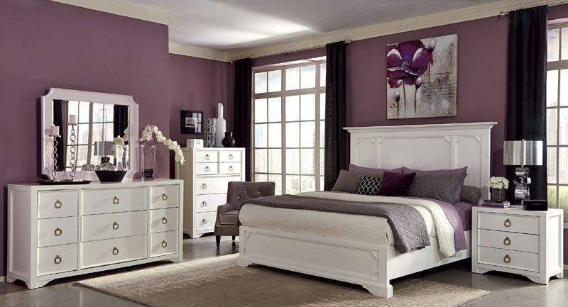 Coaster Furniture - Furiani White 6 Piece Eastern King Panel Bedroom