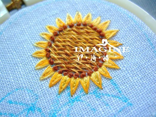 Tutorial Sunflower Embroidery