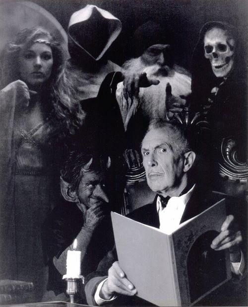 Vincent Price Actor.....  House of Wax, The Raven and so many more Horror movies that scared the Pants of you!