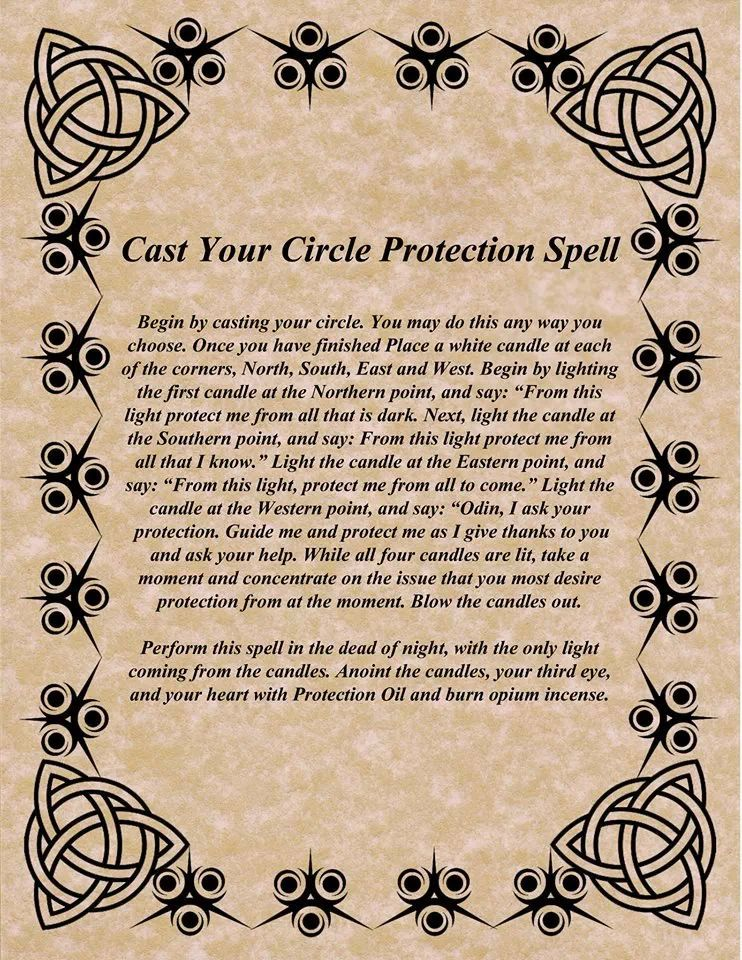 circle of protection, celtic, Odin, spell, parchment, cat