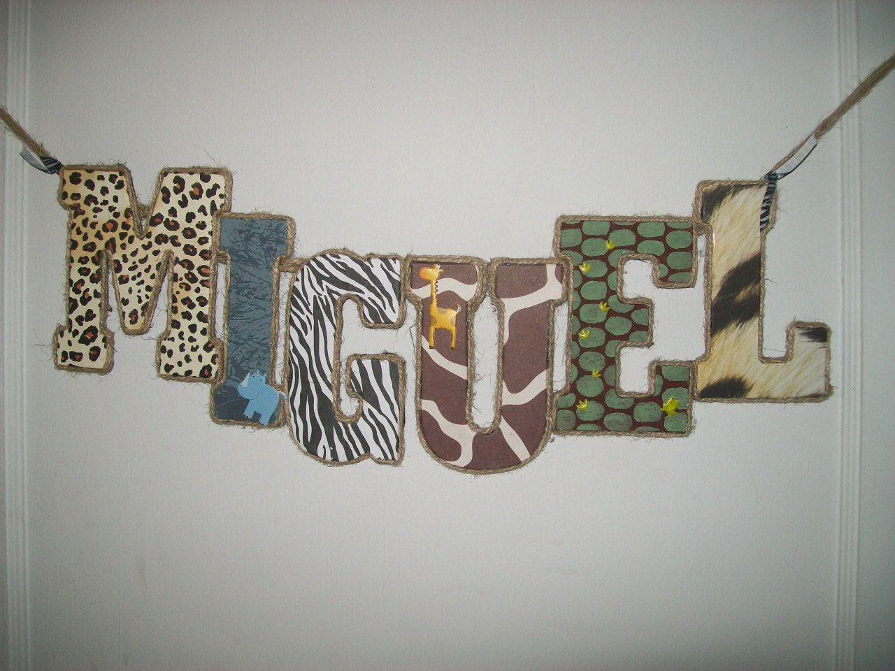 Private Listing For Sara Nelson.Jungle Safari Wooden