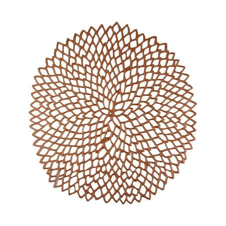 Buy Chilewich Pressed Vinyl Dahlia Round Placemat Rose Gold Amara Placemats Woven Placemats Chilewich Placemat