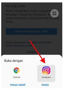 lupa password akun instagram