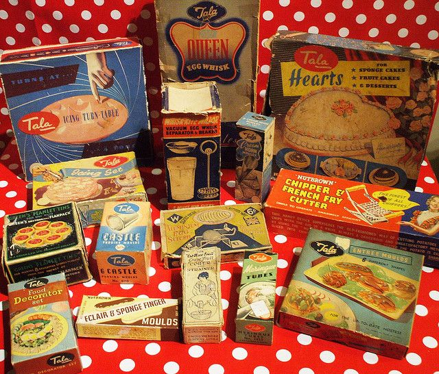 Vintage Nutbrown and Tala boxed utensils  #2 by the vintage cottage,   oh how I love Tala ware