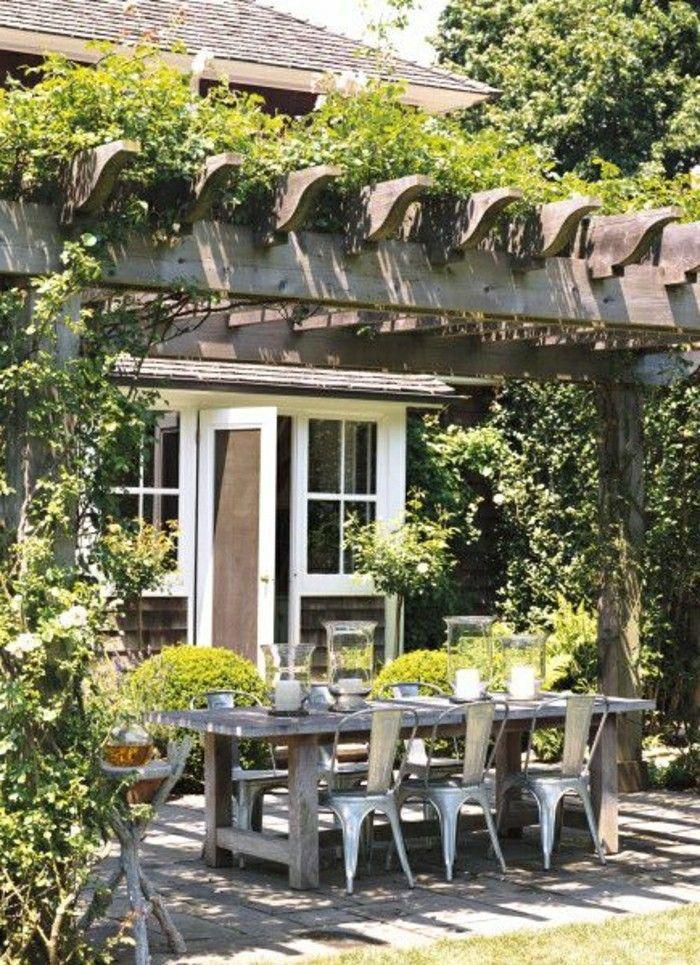 Mein schöner garten pavillon holzhaus holztisch mit stühlen - mein schoner garten vorgarten