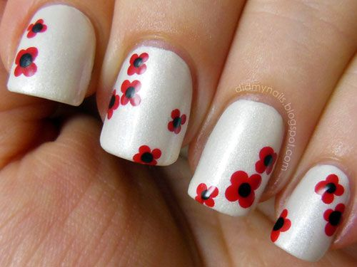2015 Cute Spring Nail Art Ideas Floral Nail Art Trendy Nail Art