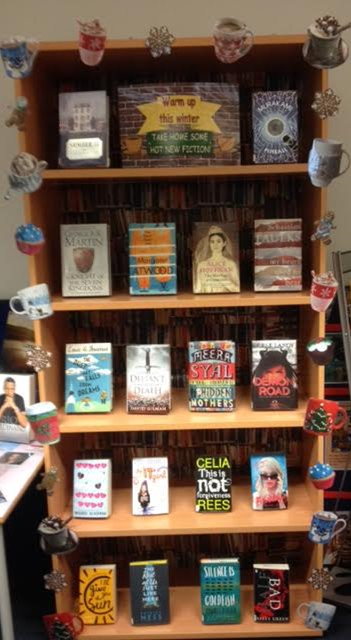c56484226 Winter warmers, a coffee shop themed display! | School Library ...