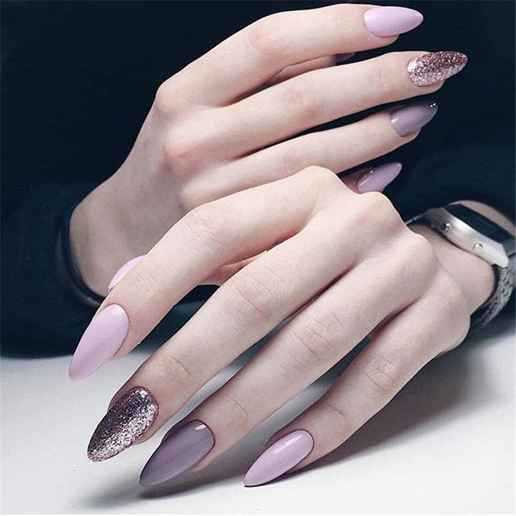 2019 2020 Novelty And Trends In Manicure Page 102 Of 119 Inspiration Diary Oval Nails Designs Acrylic Nail Shapes Spring Acrylic Nails