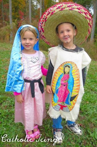 dd06ee244e7 Our Lady of Guadalupe and St. Juan Diego costume for All Saints' Day ...