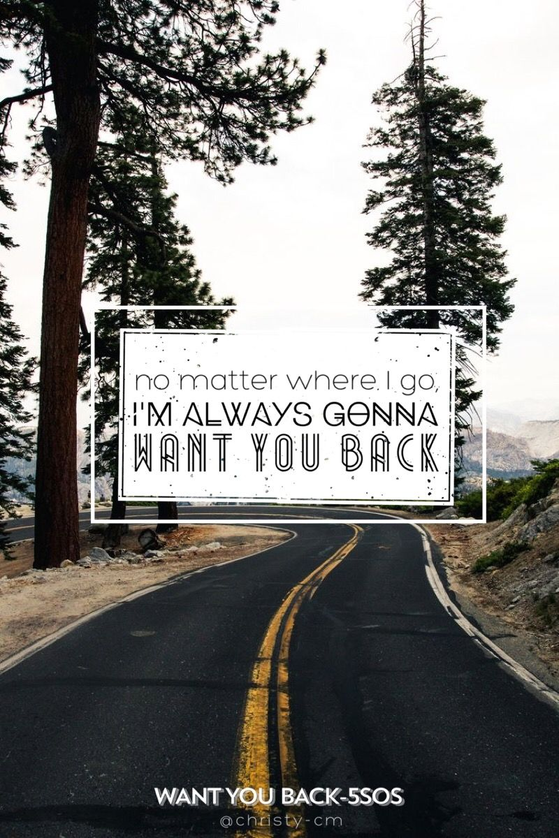 Want You Back 5sos By Christy Cm With Images 5sos Lyrics