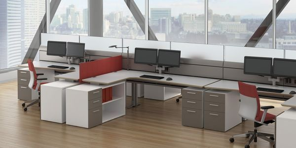 modular office furniture modern cool cubicles sit stand benching systems