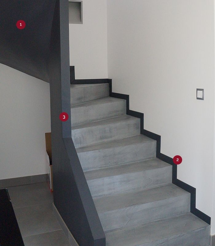 Beton Mineral Beton Mineral Amenagement Escalier Deco Maison