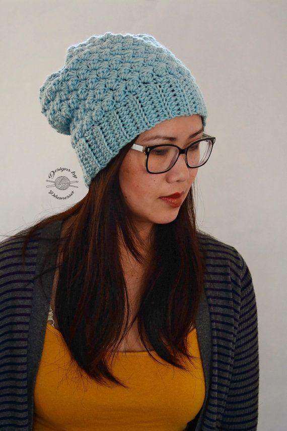 Crochet Lily Slouch Beanie Pattern Crochet Hat Pattern Crochet