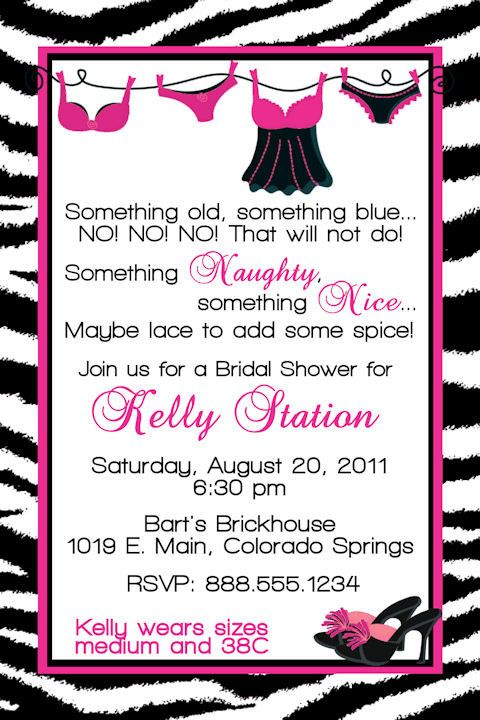 customized bridal lingerie shower invitation by dewdropdigitals