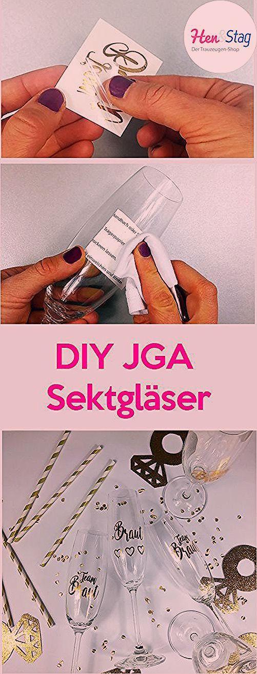 Photo of DIY JGA Sektgläser