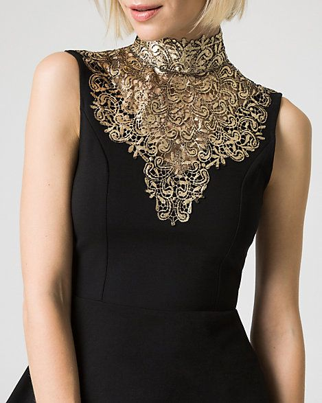 Victorian-inspired necklines done right at Le Château! #party #outfit #holidays