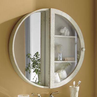 Large Round Bathroom Mirror With Storage Homyracks