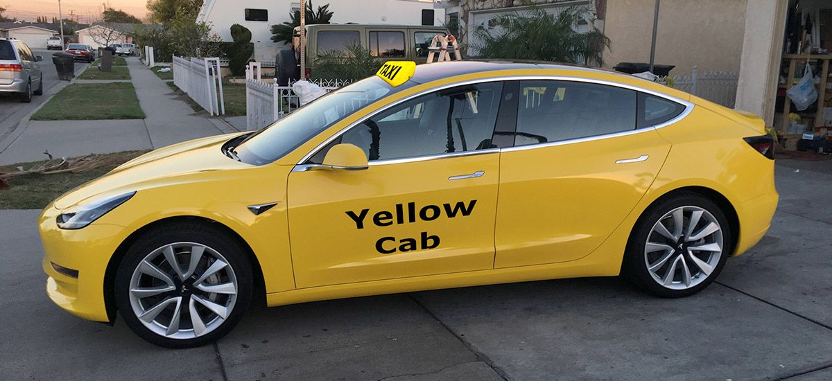 Tesla Model 3 the first allelectric cab approved