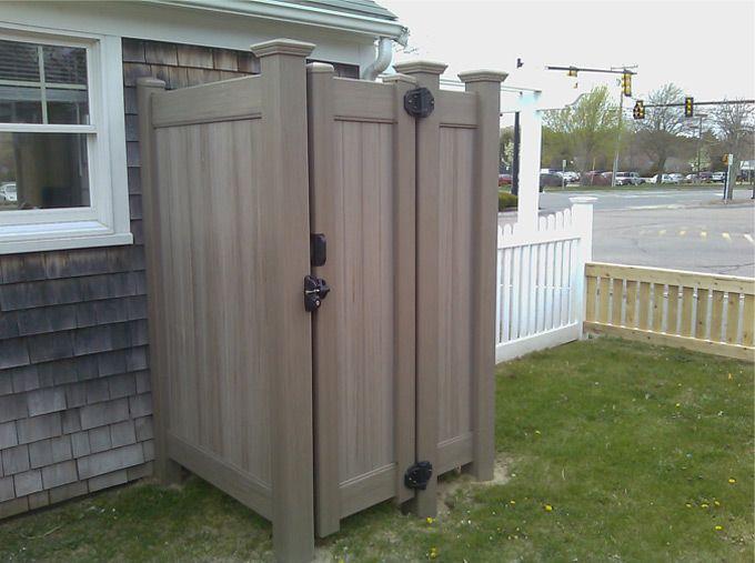 Outdoor shower enclosure cedar certified