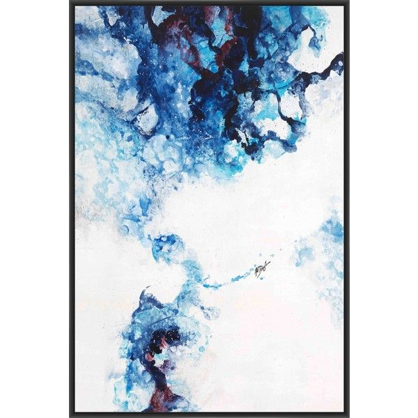 Glacier Blue II Framed Painting Print on Canvas (14,190 INR ...