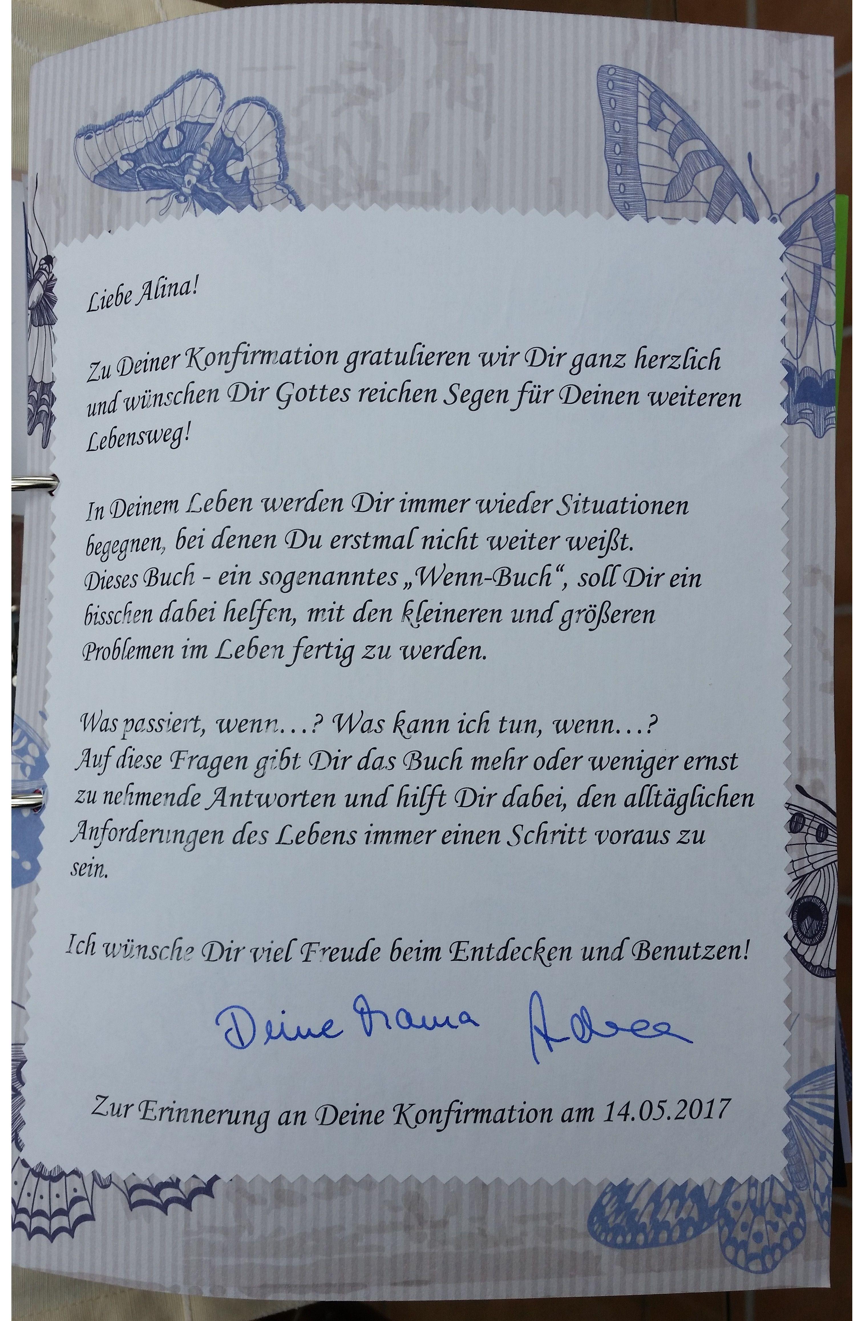 Deckblatt mit Erklärungen zum Wenn-Buch. | wenn-buch | Pinterest ...