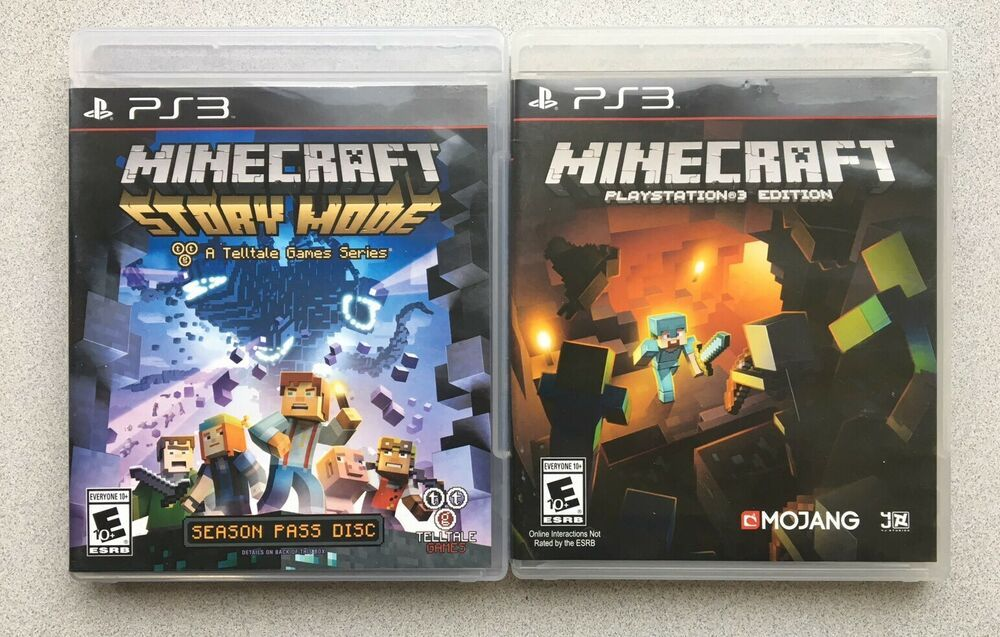 Lot Of 2 Minecraft Story Mode Adventure Ps3 Playstation 3 Edition Tested Minecraft How To Play Minecraft Playstation