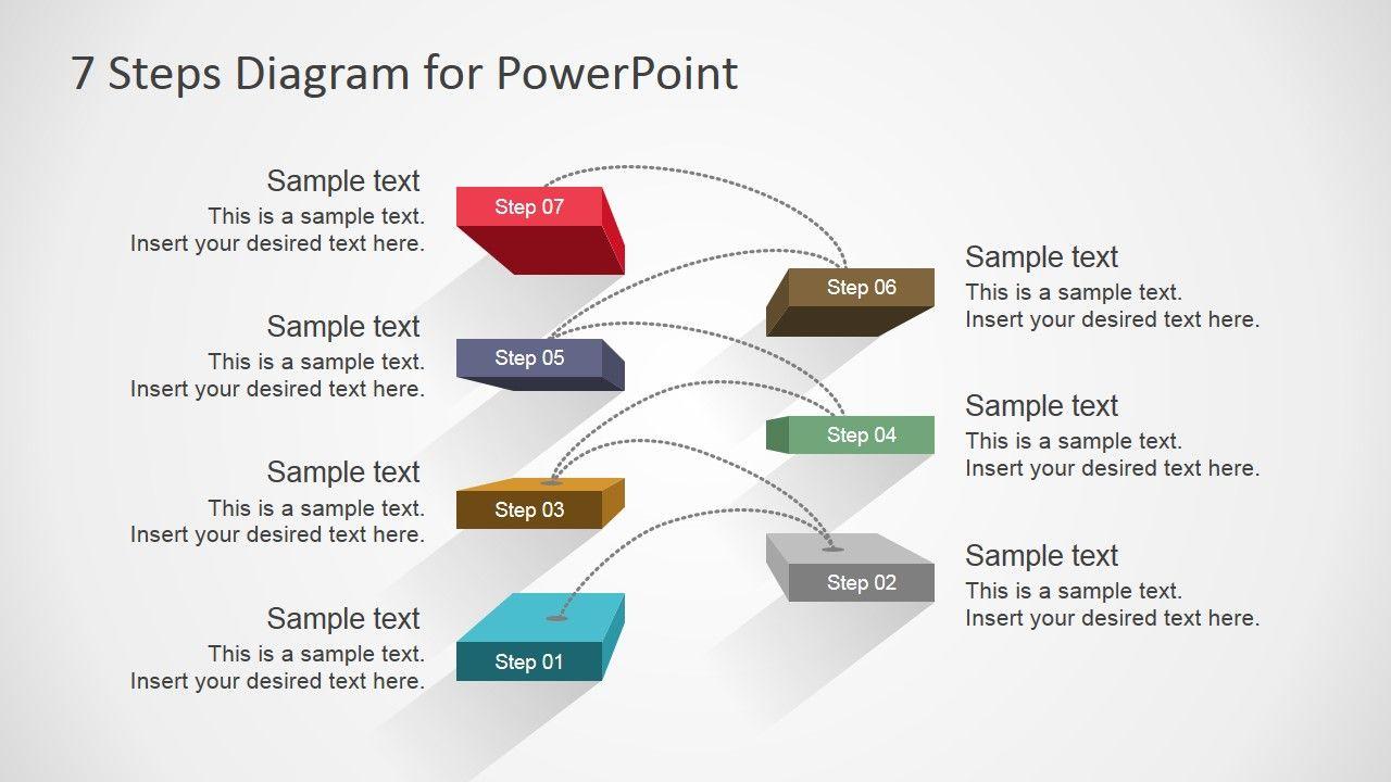 7 steps diagram design for powerpoint diagrams pinterest