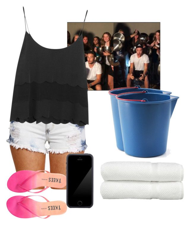 """Ice bucket challenge w/ Liam"" by emma-costas ❤ liked on Polyvore featuring Topshop, Tkees, Squair, Linum Home Textiles, women's clothing, women, female, woman, misses and juniors"