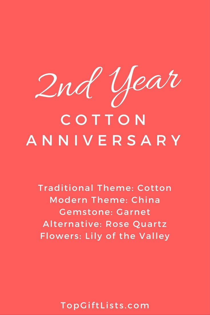 2nd year of marriage anniversary themes flowers and gift ideas