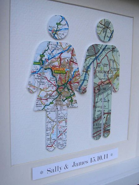 Long Distance Relationship Gift Ideas | bw | Map crafts, Map