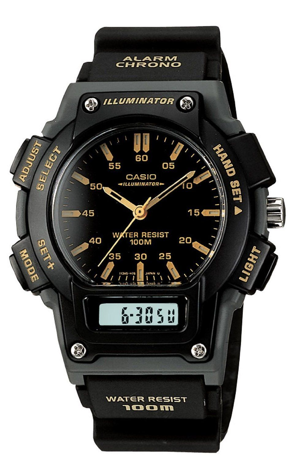 Casio Men's AQ150W1EV AnaDigi Chronograph Sport Watch