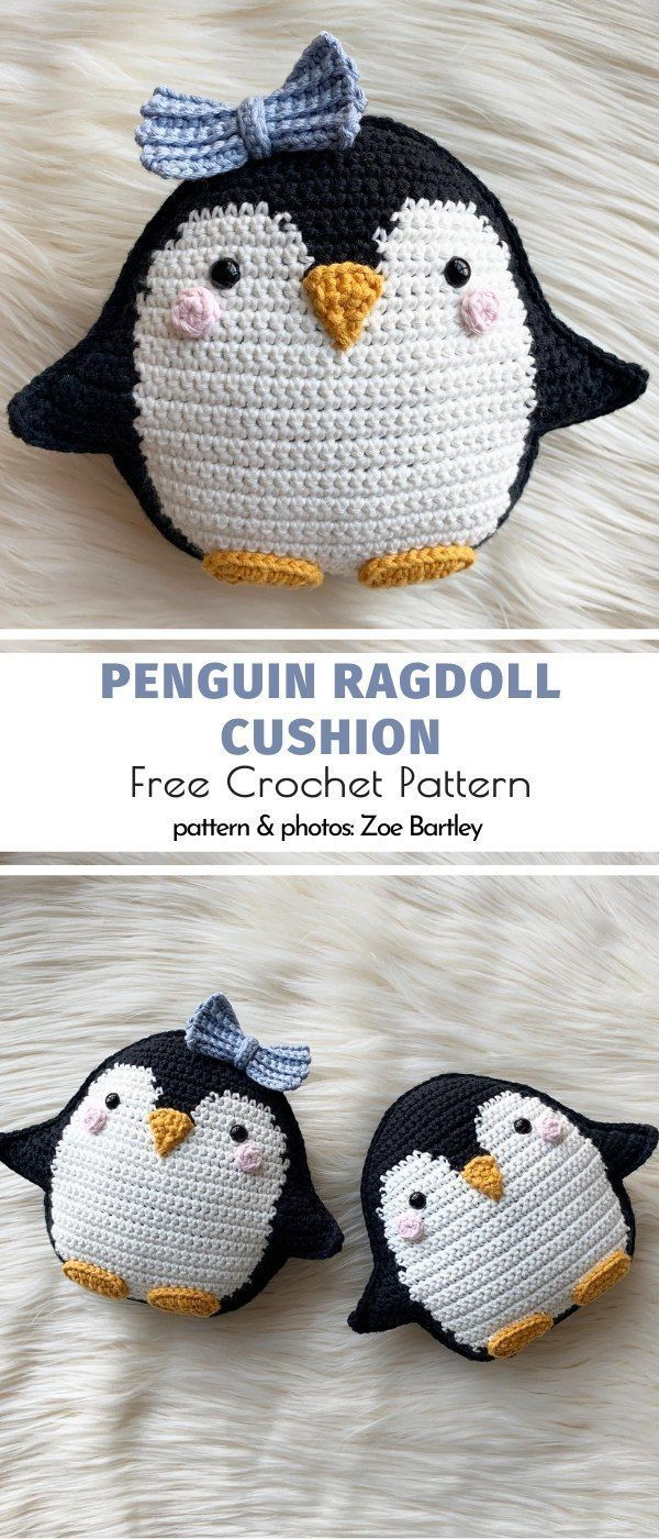 Adorable Ragdoll Amigurumi. Oh, how sweet is this penguin baby girl? I would cud… - Knithat
