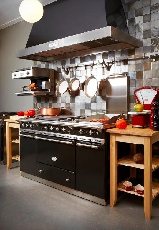 lacanche fontenay range cooker in black piano de cuisson fridges pinterest equipement. Black Bedroom Furniture Sets. Home Design Ideas