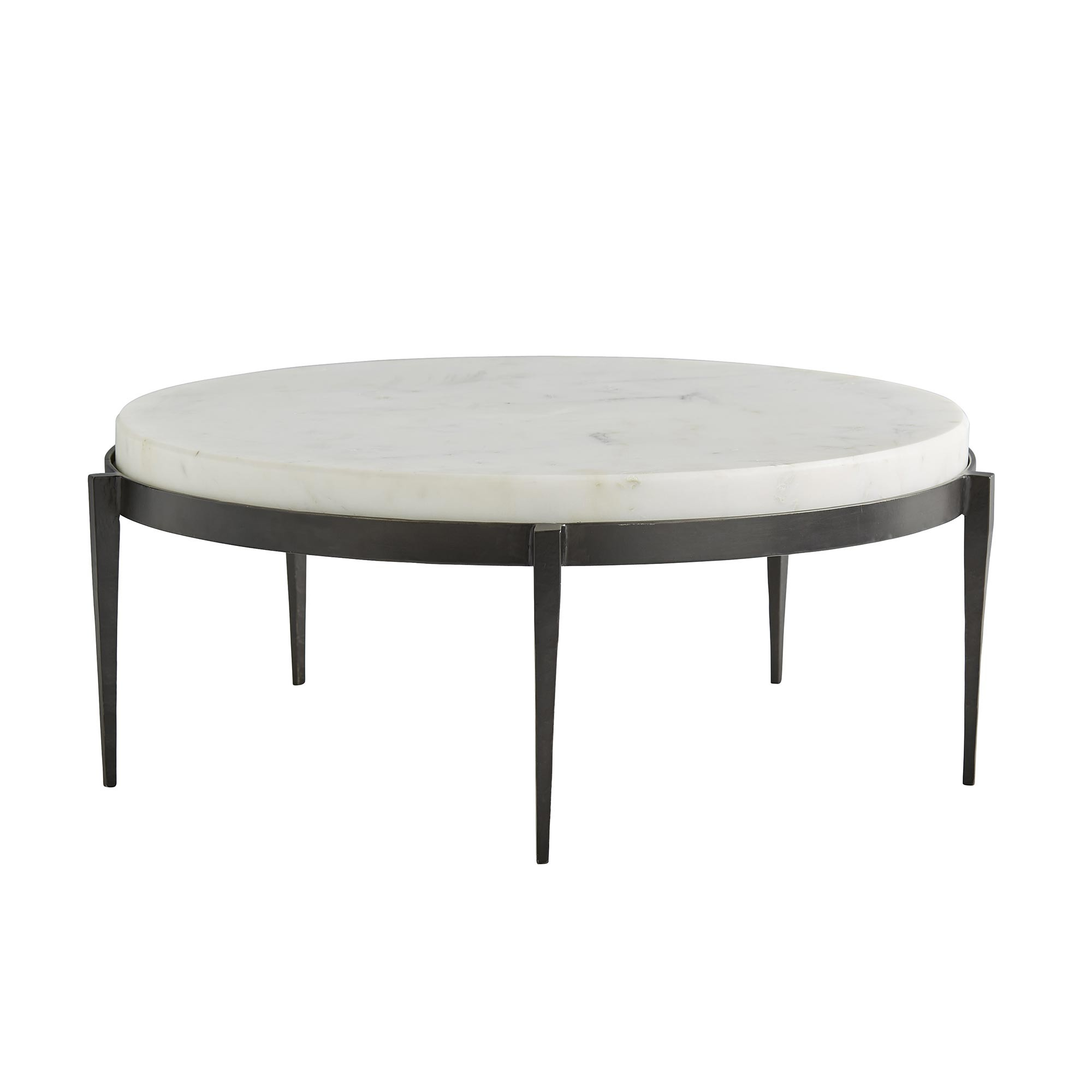 Kelsie Cocktail Table In 2020 Round Coffee Table Modern Iron