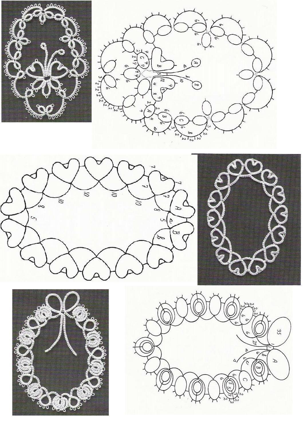 Tatted frames pattern | Frivolité | Pinterest | Frivolo, Puntos de ...