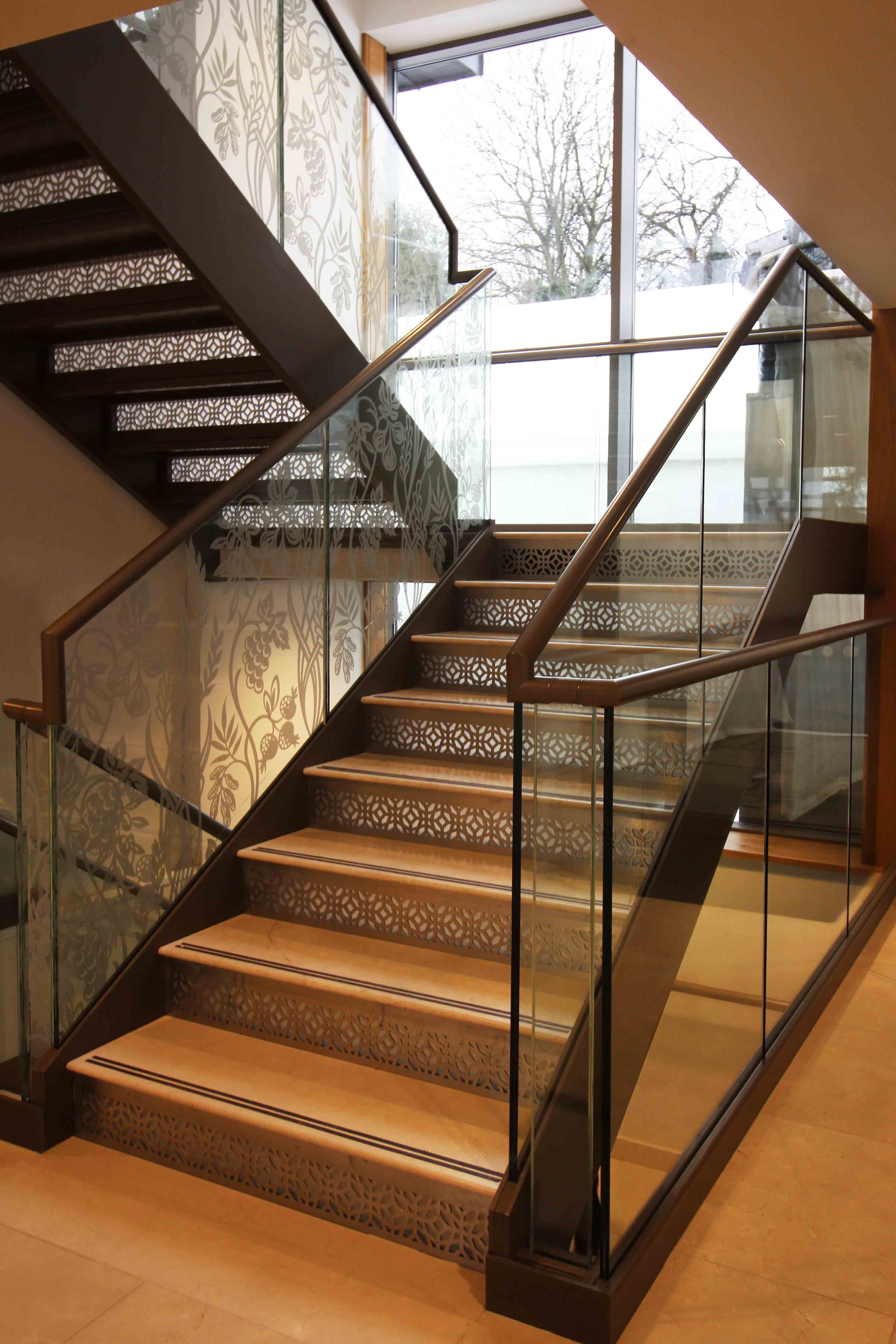 Laser Cut Screens   Stair Risers   Design By Miles And Lincoln.  Www.milesandlincoln