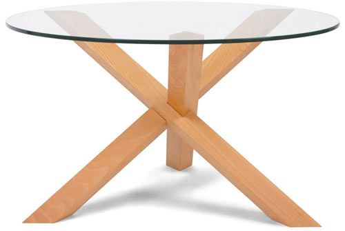 Glass Top Dining Table, Puzzle Round Table