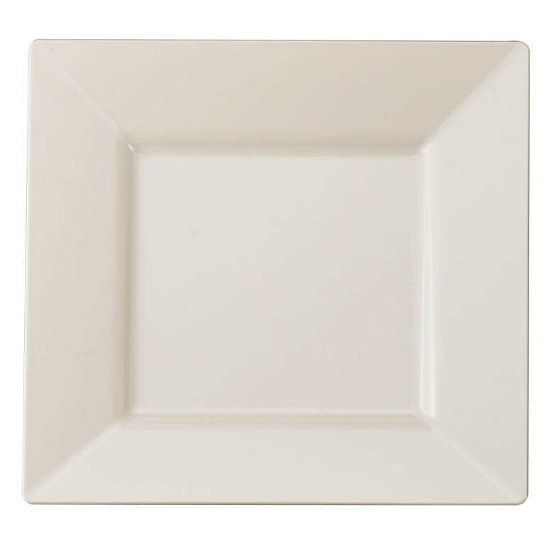 Posh Party Supplies - Disposable 6.5  Square Ivory Plastic Dessert Plates - 10 Plastic Plates ...  sc 1 st  Pinterest & 6.5