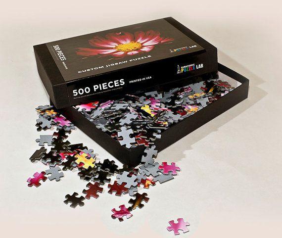 Custom Jigsaw Puzzle 500 pcs with black gift by SubatomicPuzzleLab, $29.95