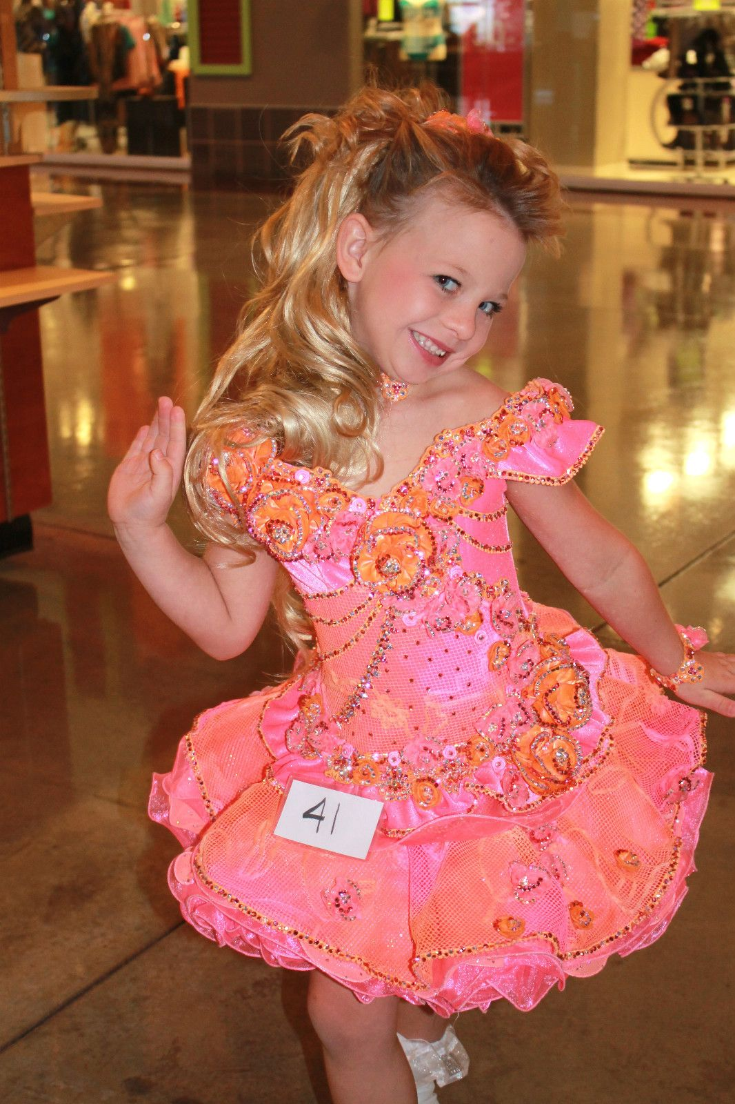 National High Glitz Pageant Dress Size 6 8 Made by Tina Marshal ...