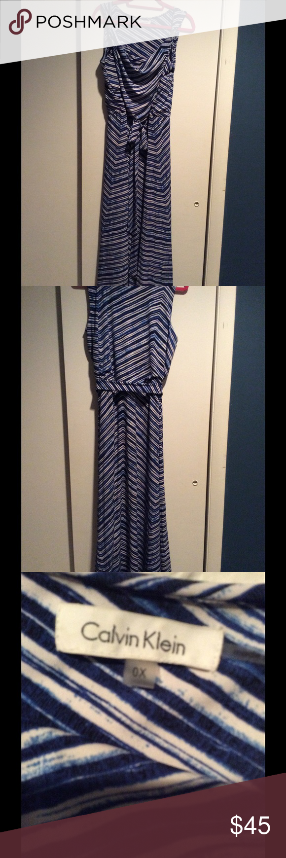 Calvin Klein Beautiful Maxi Ready for your next dinner out! So pretty and so comfortable to wear!! Calvin Klein Dresses Maxi