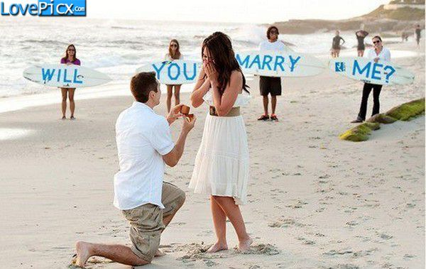 Love Couple Beach Propose Will You Marry Me Love Wallpapers