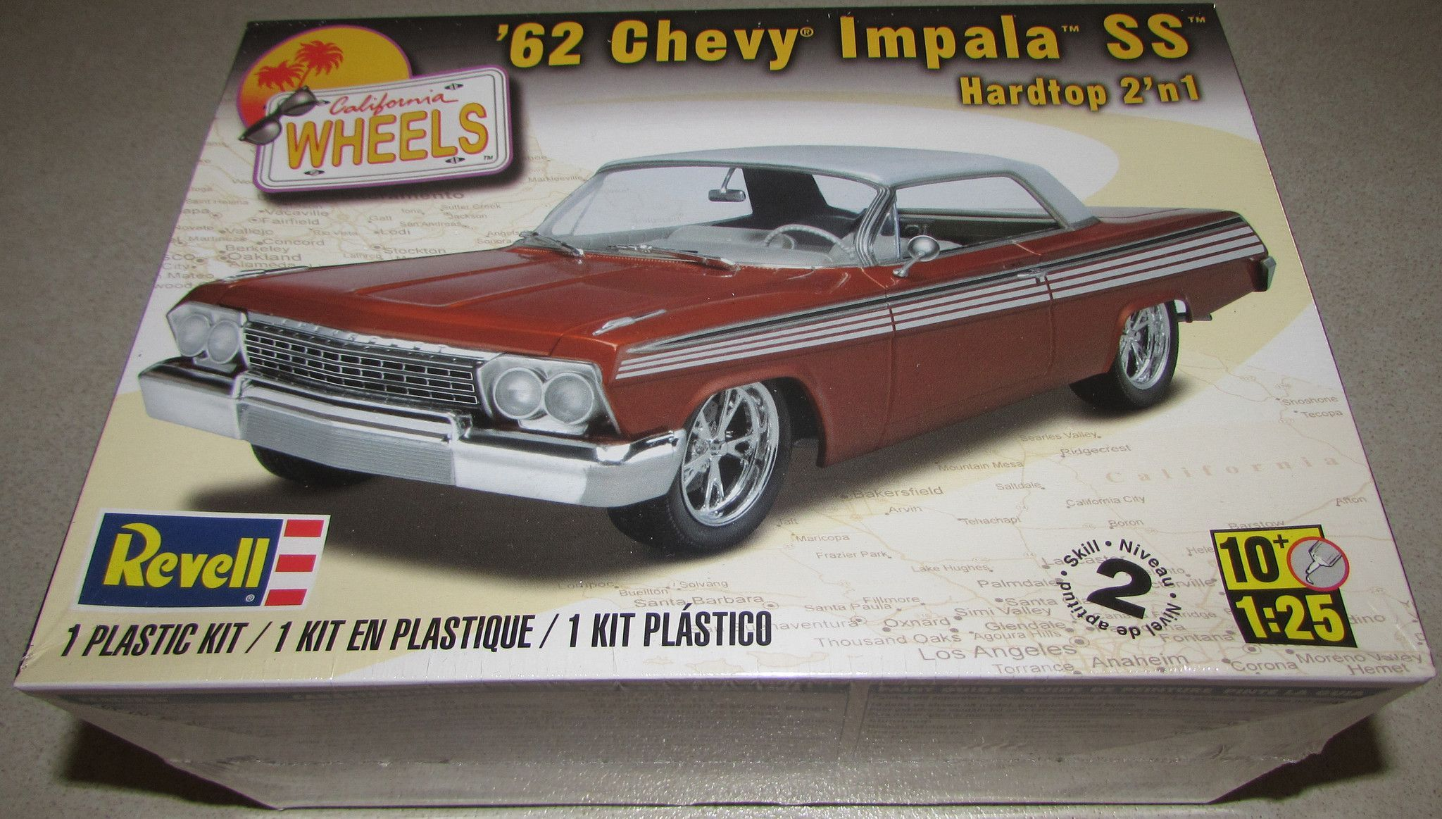 1962 chevy impala ss hardtop revell 85 4281 1 25 scale. Black Bedroom Furniture Sets. Home Design Ideas