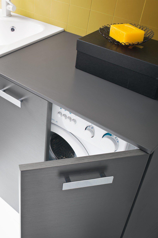Waschmaschinenschrank Fur Badmobel Der Serie Atlantic Diotti Com Schrank Badezimmer Tv Wand Wohnzimmer