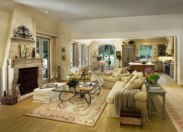 Decorating With A Mediterranean Influence 30 Inspiring Pictures Mediterranean Living Room Living Room And Kitchen Design Open Concept Living Room