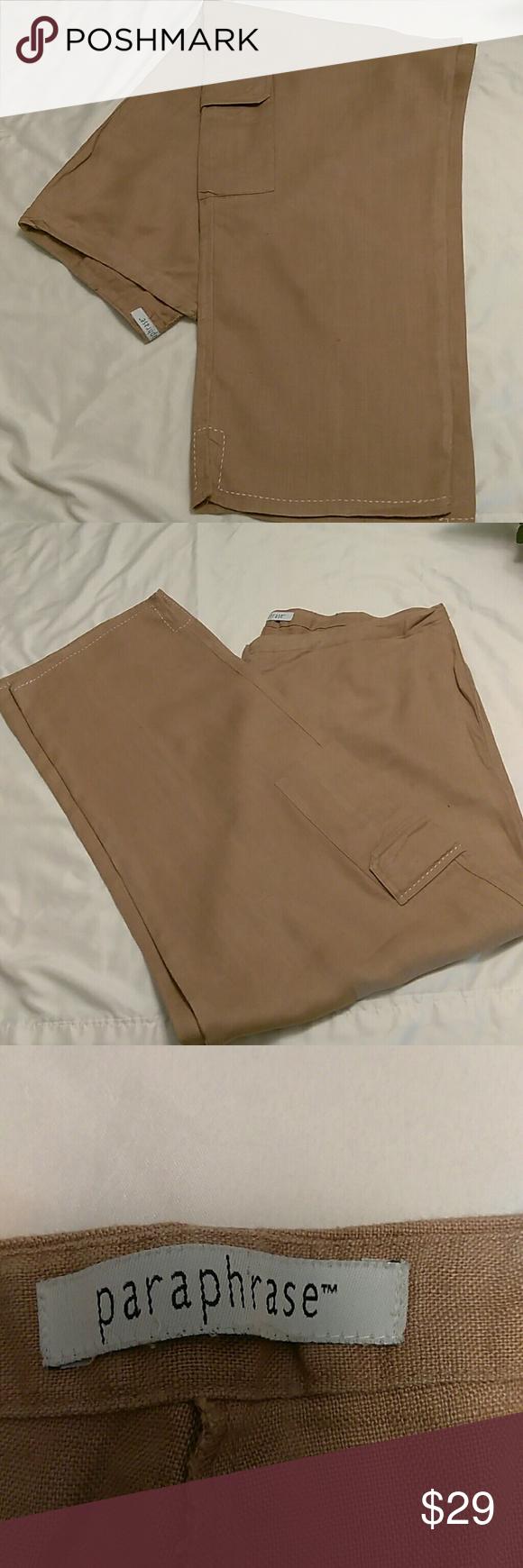 Paraphrase Ladie Linen Boho Pant Women Pants