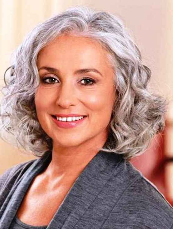 21 Impressive Gray Hairstyles For Women Feed Inspiration Womens Hairstyles Grey Curly Hair Short Hair Styles